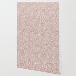 Little wild cheetah spots animal print neutral home trend warm dusty rose coral Wallpaper