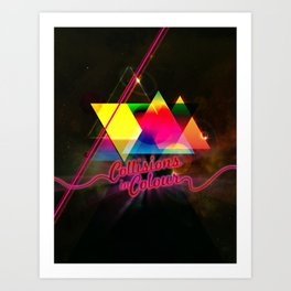 Collisions in Colour Art Print