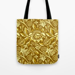 William Morris Sunflowers, Mustard and Golden Yellow Tote Bag
