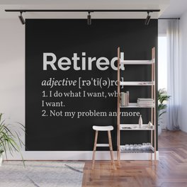 Retired Definition I Wall Mural