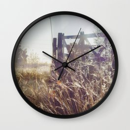 Sunset on the gate Wall Clock