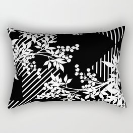 TOILE LEAF AND DIAMOND PATTERN Rectangular Pillow