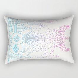 Santa Fe Garden – Rose Quartz & Serenity Rectangular Pillow