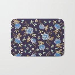 Dark Floral Bath Mat