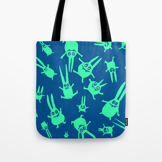 bunnies in weightlessness Tote Bag