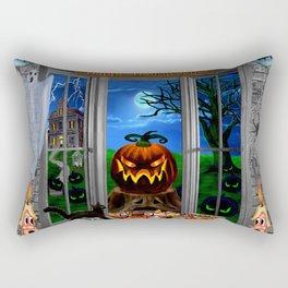 Halloween Pumpkin Night Stalker Rectangular Pillow