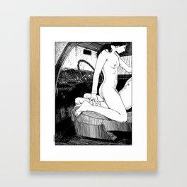asc 314 - L'aire de repos II (She couldn't wait) Framed Art Print