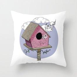 Bird's house: The Singer Throw Pillow