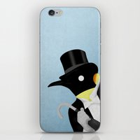 penguin iPhone & iPod Skins featuring Penguin by Chase Kunz