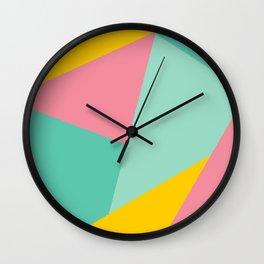 Bight Abstract Geometric Pattern Wall Clock