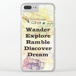 Inspirational Travel quote Clear iPhone Case