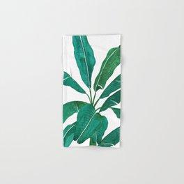 banana leaf watercolor Hand & Bath Towel