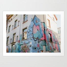 Frankfurt Graffiti Art Print