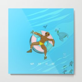 floating on the water Metal Print