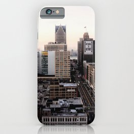 Downtown Detroit Skyline Woodward Avenue iPhone Case