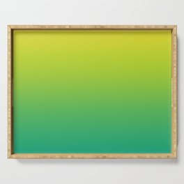 Meadowlark, Lime Punch, Arcadia Blurred Minimal Gradient | Pantone colors of the year 2018 Serving Tray