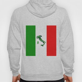 Map of Italy and Italian Flag Hoody