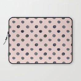 Hand drawn grey dots on pink - Mix & Match with Simplicty of life Laptop Sleeve