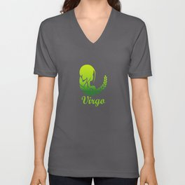 Virgo Earth Sign Graphic Zodiac Birthday Gift Idea Horoscope Design Unisex V-Neck