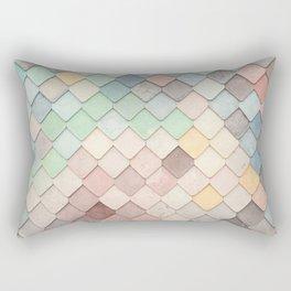 Cute Rainbow Scales Rectangular Pillow