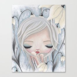 Silence of the Snowdrops Canvas Print