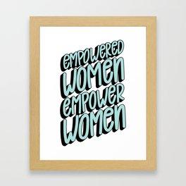 Empower Women Framed Art Print