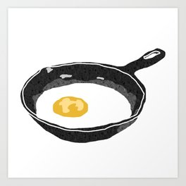 Egg in a Frying Pan Art Print