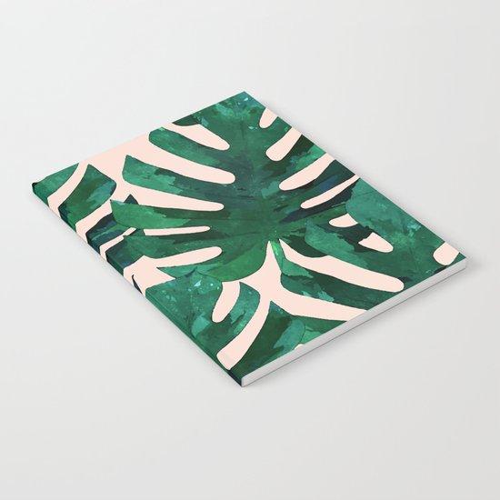 Monstera Pattern #society6 #decor #lifestyle Notebook