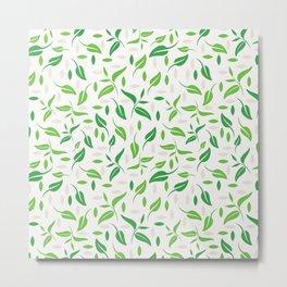 Tea leaves style Metal Print