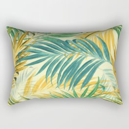 Palm Leaves in Yellow Rectangular Pillow