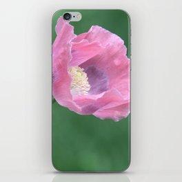 Pink Poppy Profile iPhone Skin