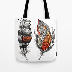 Sunset Feathers Tote Bag