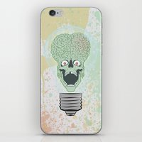 toddler iPhone & iPod Skins featuring Think Martian  by Geekleetist