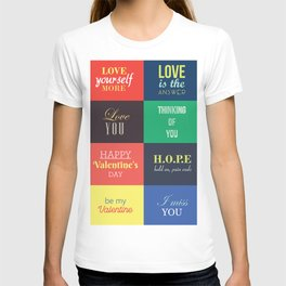 love messages T-shirt