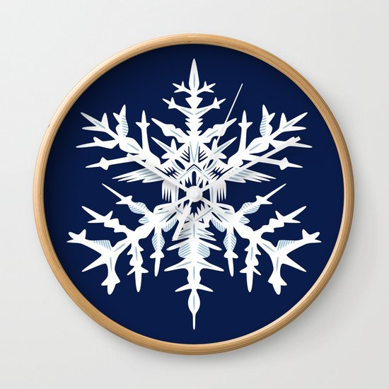 Evil Snow Wall Clock