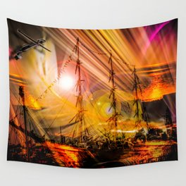 Romance of sailing Wall Tapestry
