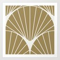 Diamond Series Round Sun Burst White on Gold by anvilstudiowr
