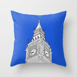 London Big Ben - Line Art Throw Pillow