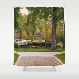 Gazebo In Autumn Shower Curtain