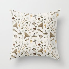Northern forest (white) Throw Pillow