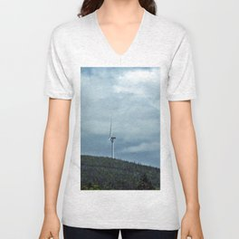 Windmill in the clouds Unisex V-Neck