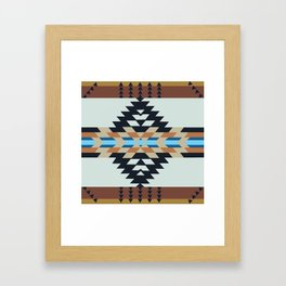 American Native Pattern No. 133 Framed Art Print