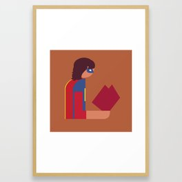 Ms Lady Reads Framed Art Print