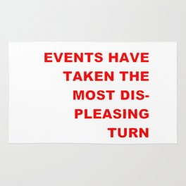 The Events & the Evaluation of 2016 (Variation on a net meme) Rug