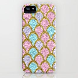 Mermaid Scales Golden Pastel iPhone Case