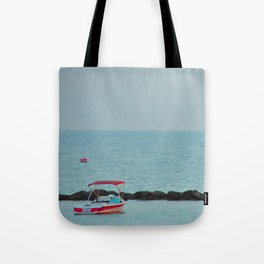 Between Sea and Sky Tote Bag