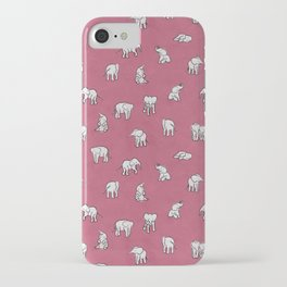 Indian Baby Elephants in Pink iPhone Case