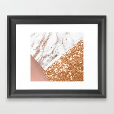 Layers of rose gold Framed Art Print