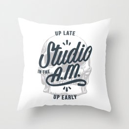 Up Late, Up Early Throw Pillow
