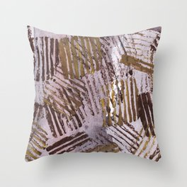 Abstract striped art painting Throw Pillow